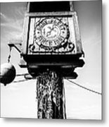 Dory Fleet Crow's Nest Black And White Picture Metal Print