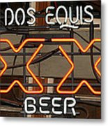 Dos Equis Texxas Beer Metal Print