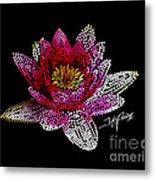 Dots Of Flowers Metal Print