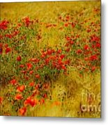 Dots Of Red Metal Print