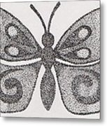 Dotted Butterfly Metal Print