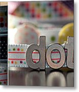 Dotty Diptych Metal Print