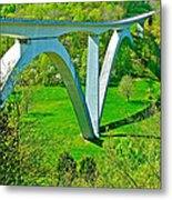 Double-arched Bridge Spanning Birdsong Hollow At Mile 438 Of Natchez Trace Parkway-tennessee Metal Print