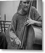 Double Bass Player Metal Print by David Morefield