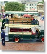 Double Decker Bus Main Street Disneyland 02 Metal Print