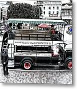 Double Decker Bus Main Street Disneyland Sc Metal Print