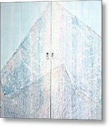 Double Doors To Peaceful Mountain Metal Print by Asha Carolyn Young