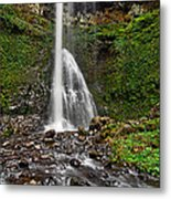 Double Falls In Silver Falls State Park In Oregon Metal Print