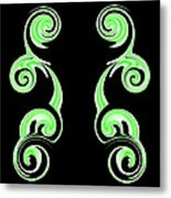 Double Green Swirl Metal Print