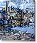 Double Header Nevada Northern Railway #1 Metal Print