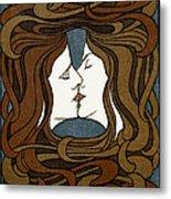 Double Medusa Illustration Panel Metal Print