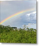 Double Rainbow Sheffield Island Metal Print