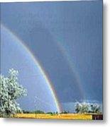 Double Rainbows In Colorado Metal Print
