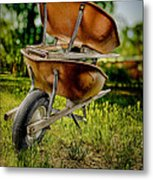 Double Wheelbarrow Metal Print
