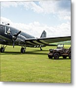Douglas C-47a Skytrain Ready For D-day Metal Print