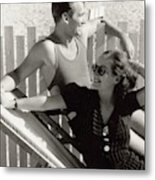 Douglas Fairbanks Jr. With Joan Crawford Metal Print
