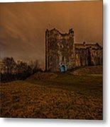 Doune Castle At Night Metal Print