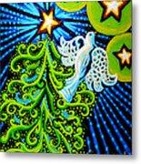Dove And Christmas Tree Metal Print