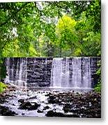 Dove Lake Waterfall At Gladwyne Metal Print