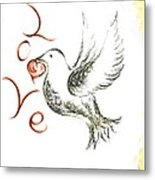 Dove Of Love Metal Print