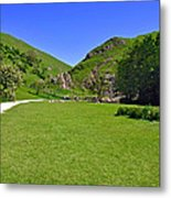 Dovedale - Stepping Stones Area Metal Print