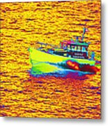 Dover Pilot Psychedelicized Metal Print