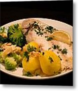 Dover Sole Fish Dinner Metal Print