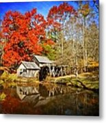 Down By The Old Mill Stream  Metal Print by Lynn Bauer