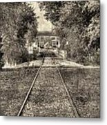 Down By The Tracks - Aged Metal Print