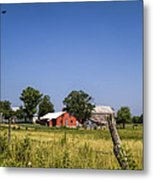 Down Home Amish Farm Metal Print