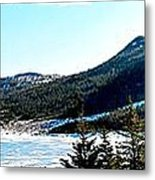 Down In The Valley Triptych Metal Print