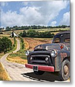 Down On The Farm - International Harvester S-100 Metal Print