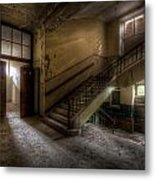 Down Stairs Ward Metal Print