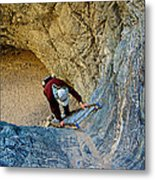 Down The Ladder In Big Painted Canyon Trail In Mecca Hills-ca  Metal Print
