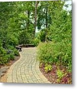 Down The Path To The Bench Metal Print
