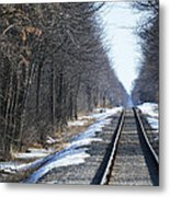 Down The Rails Metal Print