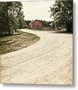 Down The Road Metal Print