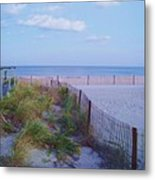 Down The Shore At Belmar Nj Metal Print