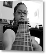 Down The Strings Metal Print