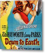Down To Earth, Us Poster Art, From Left Metal Print