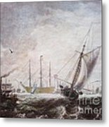 Down To The Sea In Ships Metal Print