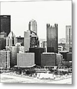 Cold Winter Day In Pittsburgh Pennsylvania Metal Print