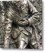 Downed.  State Of Delaware Monument Detail-d Gettysburg Autumn Mid-day. Metal Print