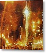 Downtown 6th St Seattle In Dec Metal Print