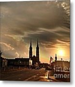Downtown After The Rain Metal Print