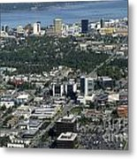 Downtown Anchorage Alaska Metal Print