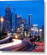 Downtown Atlanta At Dusk Metal Print