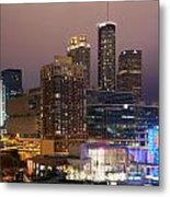 Downtown Atlanta Skyline At Dusk Metal Print