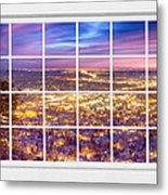 Downtown Boulder Colorado City Lights Sunrise  Window View 8lg Metal Print