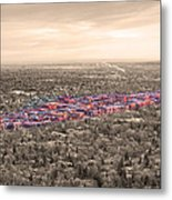 Boulder Colorado  Twenty-five Square Miles Surrounded By Reality Metal Print